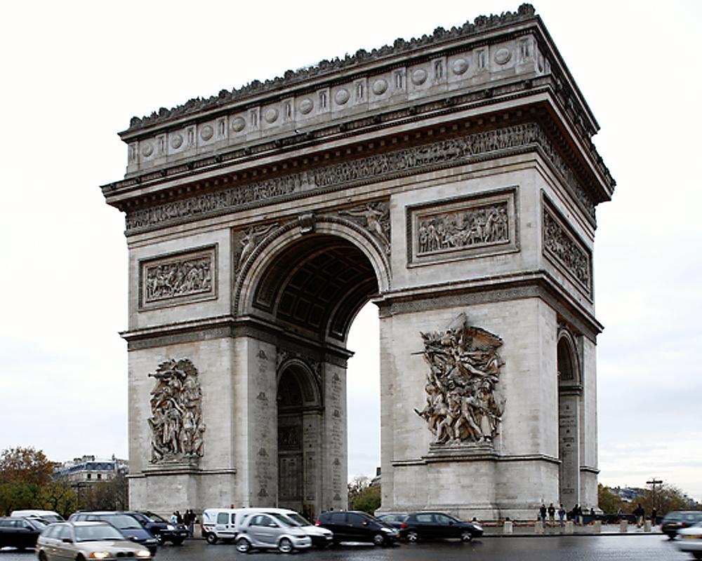 Converging Verticals Arc de Triomphe cropped