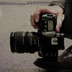 Camera retsing on shoe for low angle photography. Damien Demolder