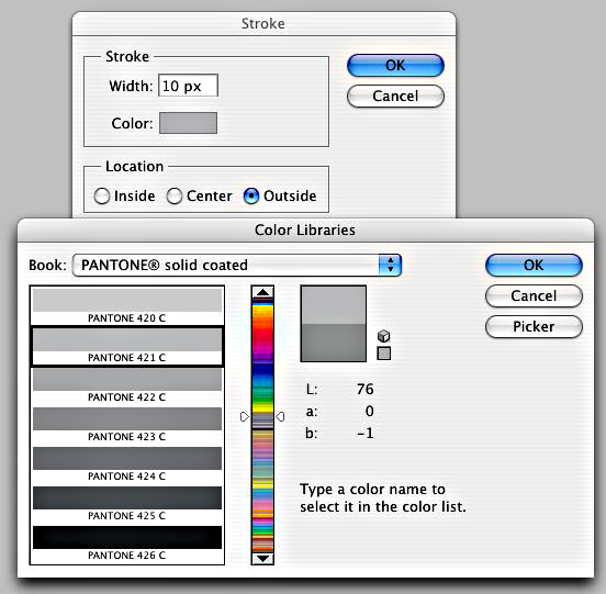 Stroke colour picker